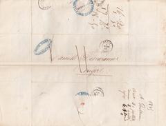 LETTRE.    31 JUILLET 45  .    FINISTERE  BREST.     TRES BEAU CACHET BLEU DU RECEVEUR GENERAL DES FINANCES / 1 - 1801-1848: Precursors XIX