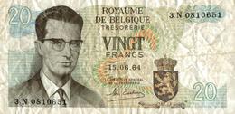 ROYAUME DE BELGIQUE TRESORERIE VINGT FRANCS - Belgien