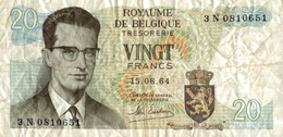 ROYAUME DE BELGIQUE TRESORERIE VINGT FRANCS - Belgio