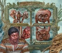 MOZAMBIQUE 2013 SHEET ALBERTO CHISSANO SCULPTORS ESCULTORES Moz13222a - Mozambique