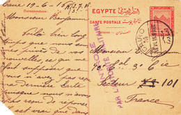 Entier Postal Card Le Caire Cairo 1916 Pyramide Contrôlé Par L'autorité Militaire