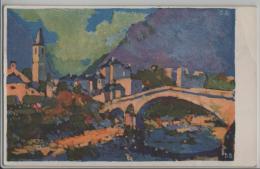 Bignasco, Paese - Künstlerkarte Pro Ticino D.B. - TI Tessin