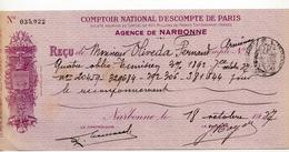 COMPTOIR NATIONAL D'ESCOMPTE DE PARIS - AGENCE DE NARBONNE - Banque & Assurance