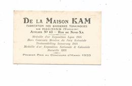 THD.0131/ Indochine - Tonkin - Bac-Ninh - Maison Kam - Broderies - Hanoï - Cartes De Visite
