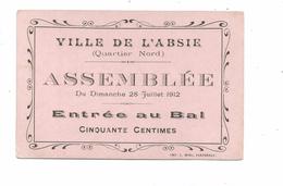 THD.0132/ L'Absie - Deux-Sèvres - Entrée Au Bal - Imp. Miel Parthenay - Tickets - Vouchers