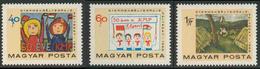 Hungary Ungarn 1968 Mi 2460 /2 YT 2005 /7 ** Children's Stamp Design / Kinderzeichnungen - Communist Party - Postzegels