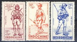 Indocina 1941 Serie N. 219-221 MLH Cat. € 4,80 - Unused Stamps