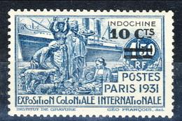 Indocina 1931 N. 149 C. 10 Su Fr. 1,50 Azzurro MNH Cat. € 7 - Unused Stamps