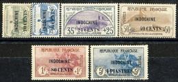 Indocina 1919 Serie N. 90-95 Ben Centrati MVLH LUX Cat. € 341 - Unused Stamps