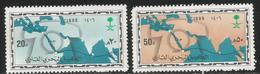 1986 Saudi Arabia Maritime Cable Map  Complete Set Of 2 MNH - Arabie Saoudite