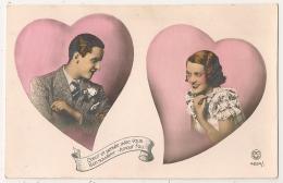 PC PARIS N° 4234/1, BON SOUVENIR. AMOUR FOU. COEUR. COUPLE. - Couples
