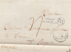 LETTRE.    10 SEPT 1848  .    SARTHE  LE-GRAND-LUCE.   ORIGINE RURALE  OR  =  ST PIERRE DU LOROUËR  / 2 - Postmark Collection (Covers)