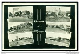 Nederland Ansichtkaart 1960 Groeten Uit Marken Met Zomerzegel 738 - Marken