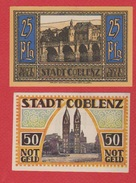 Notgeld Coblenz  --  25 Pfennig + 50 Pfennig  --    état  SPL - [11] Emissions Locales