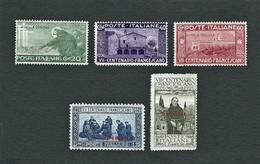 SOMALIA 1926 - 7° Centenario Della Morte Di San Francesco - MH - Sa: IT SO 81-85 - Somalia