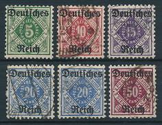 D. Reich Dienstmarken Nr. 52-56 Mit 55 Y ~ Michel 70,00 Euro - Dienstpost