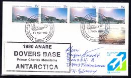 "ANTARCTIC,AAT,1989, MAWSON , Cachet "" 1990 ANARE  Dovers Base"" !! 11.4-01 - Antarktis-Expeditionen"