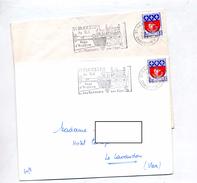 Letre Flamme Saint Martin De Re Port Rempart - Marcophilie (Lettres)