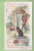 Chromo Aiguebelle  : Fables De Florian, Le Chien Et Le Chat. Chocolaterie . 2 Scans. - Aiguebelle