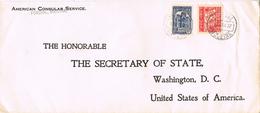 24150. Carta Aerea FUNCHAL (Madeira) Portugal 1937. Lacre Y Lineal Autenticated - Briefe U. Dokumente