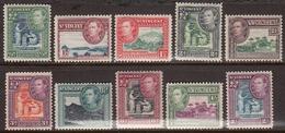 St. Vincent 1938-47 Mint Mounted, Sc# , SG 149-158 - St.Vincent (...-1979)