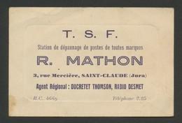 Carte De Visite - R. MATHON - T.S.F. - Réparateur De Postes De Toutes Marques - Cartes De Visite