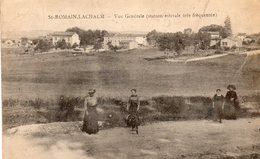 43.SAINTMAIN-LACHALM.....CPA...1917...ANIMEE...VUE GENERALE..........LOT F2712 - Frankrijk