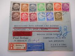 ALLEMAGNE - Env Recommandée Express Par Avion Pour Paris - Juil 1939 - P21437 - Allemagne