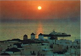 24154. Postal Actual MIKONOS (Grecia). Puesta De Sol, Sunset - Grecia