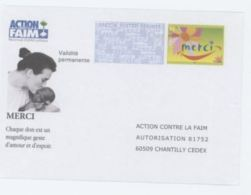 France PAP Réponse Merci 06P057 Action Contre La Faim - PAP: Antwort