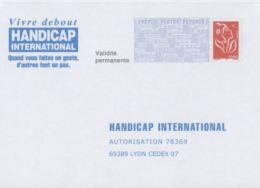 France PAP Réponse Lamouche  06P042 HANDICAP INTERNATIONAL - PAP: Antwort/Lamouche