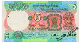 INDIA 5 RUPEES ND(1985) Pick 80p Unc - Nepal