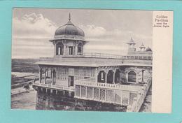 Old Postcard Of Golden Pavilion,Agra, Uttar Pradesh, India,R34. - India