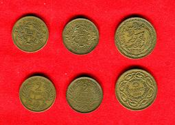 COLONIES - COLONIALES -  TUNISIE - TUNISIA -  LOT  2 FRANCS 1941 - 1945 - 5 FRANCS 1946