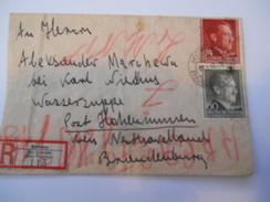 POLOGNE - Env Recommandée De La Pologne Occupée Par L'All Pour L'All - Mai 1943 - P21444 - Occupation 1938-45