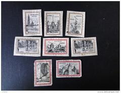 Etiquettes : Lot De 8 étiquettes Sarma Nopri Belgique   ( Collées Sur Papier ) - Zündholzschachteletiketten