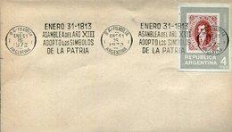 ASAMBLEA DEL AÑO XIII ADOPTO LOS SIMBOLOS DE LA PATRIA 1972 SOBRE ARGENTINA  ZTU. - Buenos Aires (1858-1864)