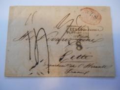 ITALIE - Env Taxée De Naples Pour Cette (France) - Nov 1852 - P21446 - Naples