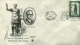 VISITA DEL PRESIDENTE DE LA REPUBLICA ITALIANA GIOVANNI GRONCHI 1961 SOBRE ARGENTINA  ZTU. - History