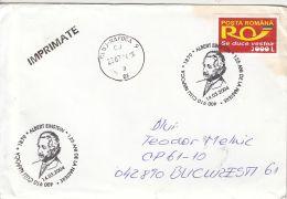 5187FM- ALBERT EINSTEIN, SCIENTIST, SPECIAL POSTMARK ON COVER, 2004, ROMANIA