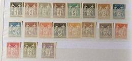 VENTE PRINTEMPS 2#LOT56: FRANCE Collection Complète Timbres Sage Régents Signés - France