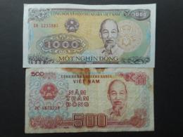 Vietnam 200,500,1000 Dong 1987-1988 (Lot Of 3 Banknotes) - Vietnam