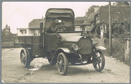 Schweiz 1917  Karte Mit LKW Arbenz  Stempel Fortification De Morat Serviove Automobile