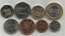 Falkland Islands 1998-2011. Set Of 8 Coins - Falkland Islands