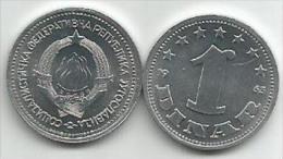 Yugoslavia 1 Dinar 1963.  UNC / AUNC KM#36 - Yugoslavia