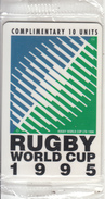SOUTH AFRICA(chip) - Rugby World Cup 1995/Logo(complimentary), Telkom Telecard, Tirage 50000, Mint