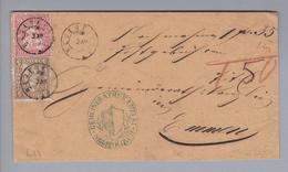 Heimat CH LU Neuenkirch 187?-12-03 Zwergstempel NN-Brief Nach Emmen - 1862-1881 Helvetia Assise (dentelés)