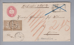 Heimat CH LU Neuenkirch 187?-03-12 Zwergstempel Auf NN-Tüblibrief Nach Emmen - 1862-1881 Helvetia Assise (dentelés)