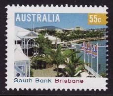 2008. AUSTRALIAN DECIMAL. Tourism. (Tourist Destinations). 55c. Tourist Precincts - South Bank, Brisbane. FU. - 2000-09 Elizabeth II