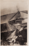 Photo 14-18 Un Zeppelin Allemand Abattu, Ballon Dirigeable, Captif (A170, Ww1) - War 1914-18